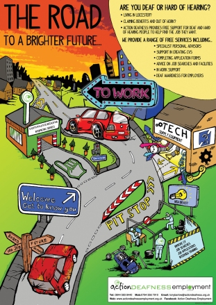 Action Deafness Employment poster