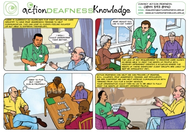 AD Deaf Awareness comic concept