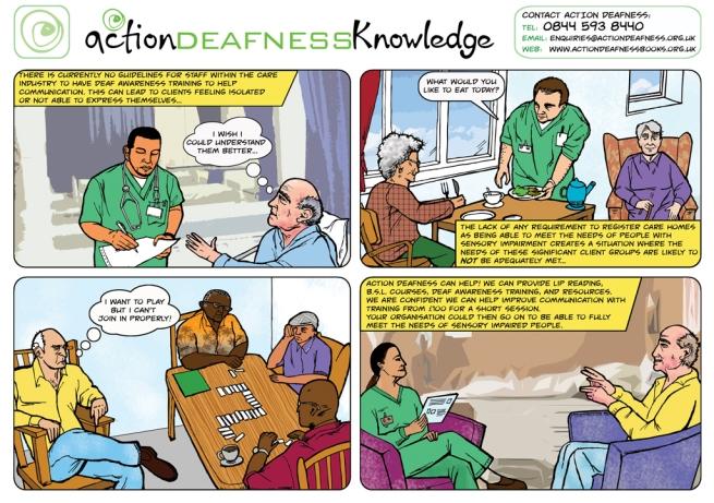 AD Deaf Awareness comic concept