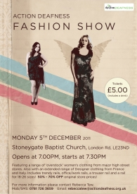 AD Fashion Show poster