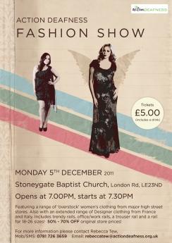AD Fashion Show poster
