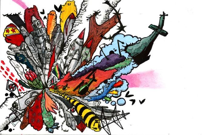Explosion Sketch