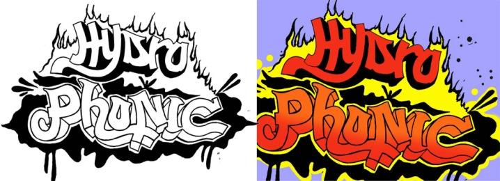 Hydrophonic Flyer Logos
