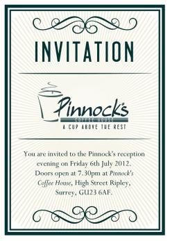 Pinnocks Coffee House Invite