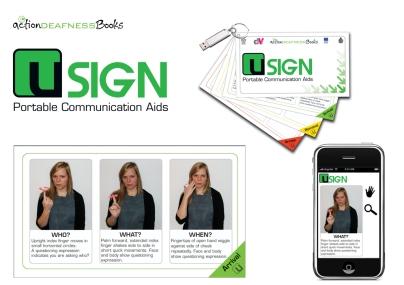 U Sign book & app concept