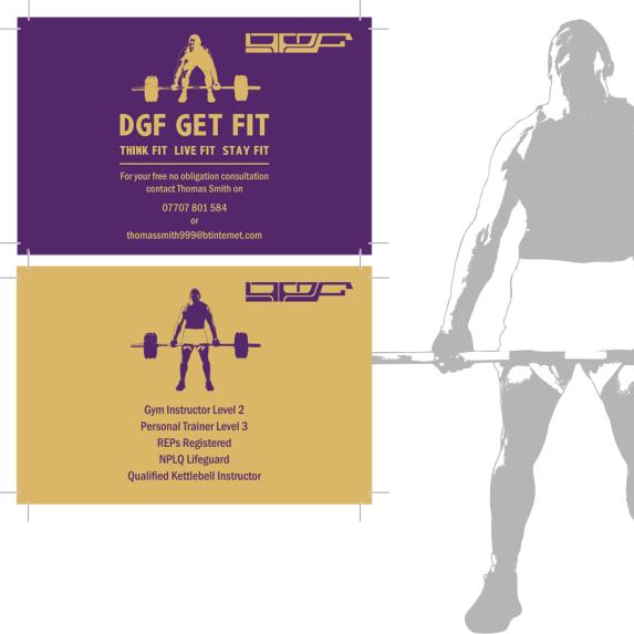 DGF Business card preview
